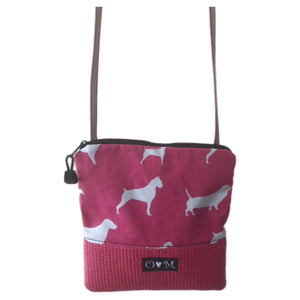 Stella Pink Cross Body Purse-dog