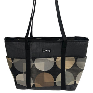 Molly Black Circles Print Tote Bag