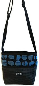 Bernie Black & Blue Dots Geometric Print Shoulder Bag
