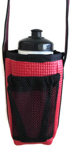 Red Ladybug Print Water Bottle Holder Purse-Ajax