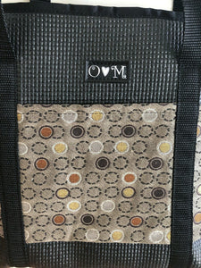 Molly Black dot print tote bag