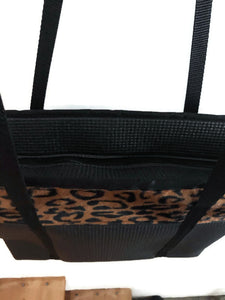 Tote bag black cheetah print