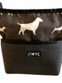 Bernie Black & Brown Dog Print Crossbody Purse