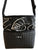 Bernie Black Leaf Print Crossbody Purse