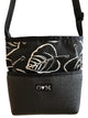 Bernie Black Leaf Print Crossbody
