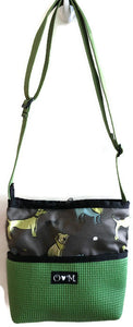 Green Crossbody Dog Print Purse