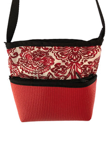 Bernie Red Shilo Print Crossbody Purse