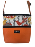 Bernie Orange Bird Print Crossbody Purse