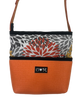 Bernie Orange Floral Bloom Print Crossbody Bag