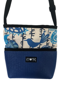 Bernie Blue Birds Cross body Purse