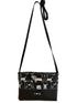 Black Long Strap Purse - Black Dog Print