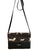 Black Long Strap Purse - Brown Dog Print