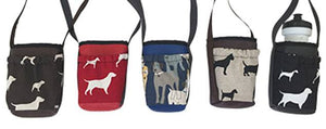 Water Bottle Holder Dog Print & Pocket