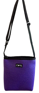 Purple Cross Body and Shoulder purse- EcoM