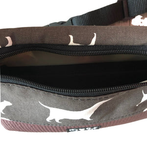 Fanny Pack Blue Dog Print Fabric