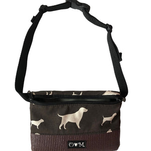 Fanny Pack Brown Dog Print Fabric