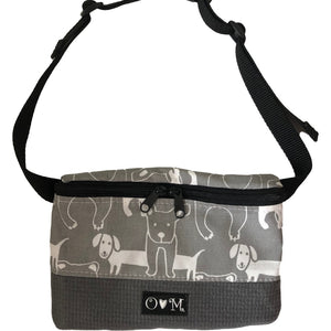 Fanny Pack Gray Dog Print Fabric