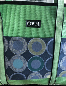Molly Green Geometric Print Tote Bag