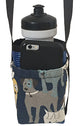 Water Bottle Holder Dog Print With Strap & Pocket