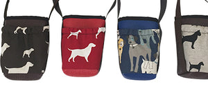 Water Bottle Holder with Dog Print fabric Pocket