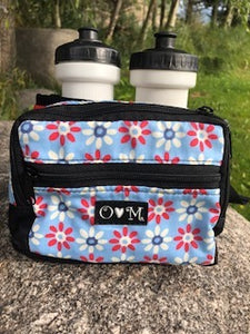 Hiker- Fanny Pack red with floral print