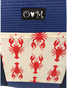 Closeup Molly Blue Lobster Print Tote Bag