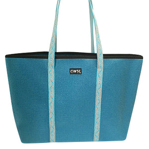Dark teal tote-Merle medium
