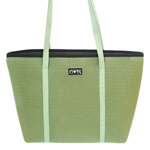Green tote-Merle Medium