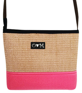 MJB Pink yoga mat with jute yoga mat