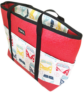 Molly Red VW Bus Print Tote