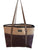 Brown Jute Tote Bag