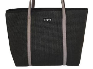 Merle Black Medium Sized Tote Bag