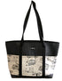 Molly black camper tote bag