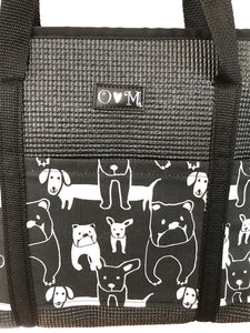 Molly Black Dog Print Tote Bag
