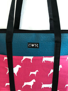 Molly dark teal dog tote