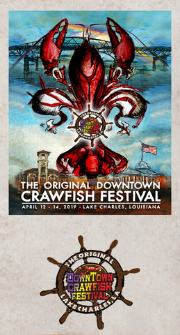 Lake Charles Crawfish Festival designed by Candice Alexander