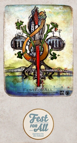Fest for All Festival Design by Candice Alexander, Fleur De Lis Artist