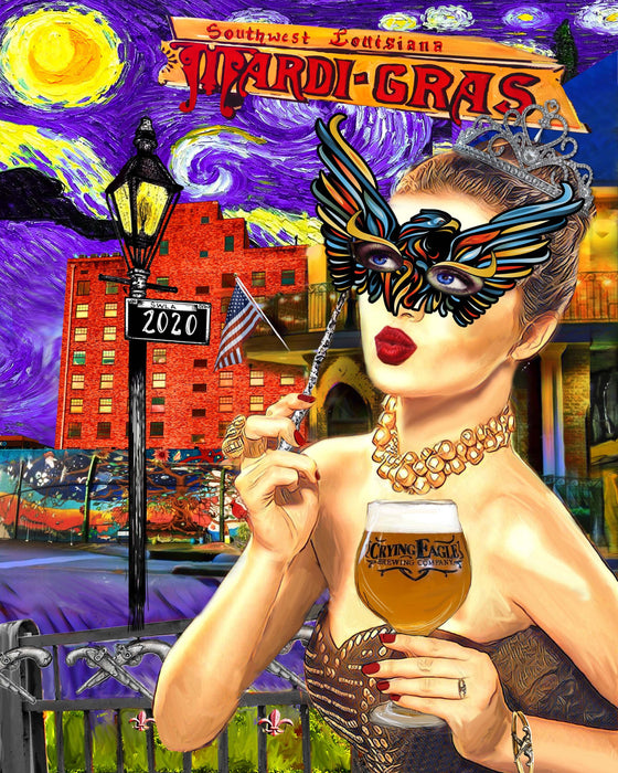 Candice Alexander, Louisiana Artist, creates the 2020 Official SWLA Mardi Gras Poster