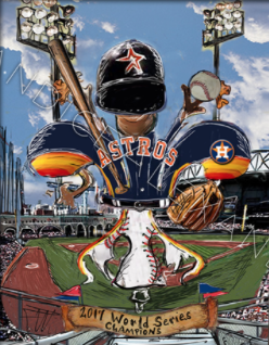 Astros World Series Art designed by Candice Alexander, Fleur De Lis Artist Fleur de Lis Art by Candice Alexander Louisiana Artist