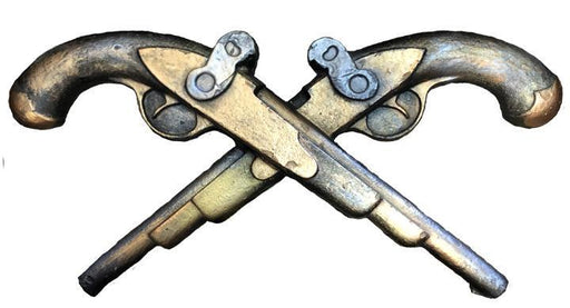 Bronze, Copper, Gold Jean Lafitte i10 Bridge pistols by Candice Alexander
