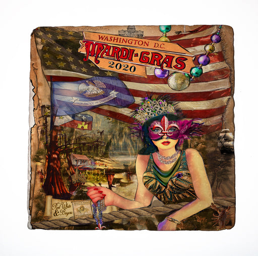 Washington DC 2020 Mardi Gras Poster