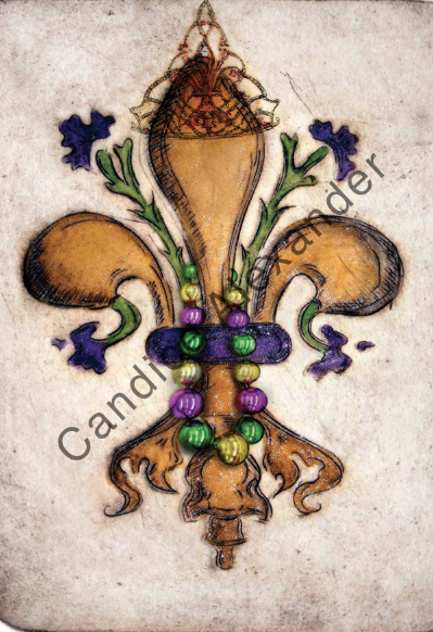 Fat Tuesday Fleur De Lis Candice Alexander Fleur De Lis art by Candice Alexander, Louisiana Artist
