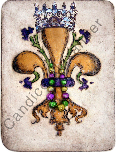 Fat Tuesday King Fleur De Lis Candice Alexander  Fleur De Lis art by Candice Alexander, Louisiana Artist