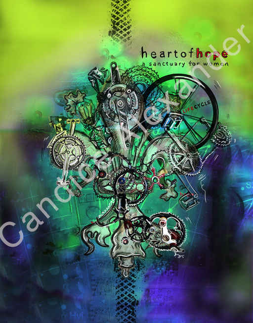 heart of hope Fleur de Lis design by Candice Alexander, Fleur De Lis Artist Fleur De Lis art by Candice Alexander, Louisiana Artist