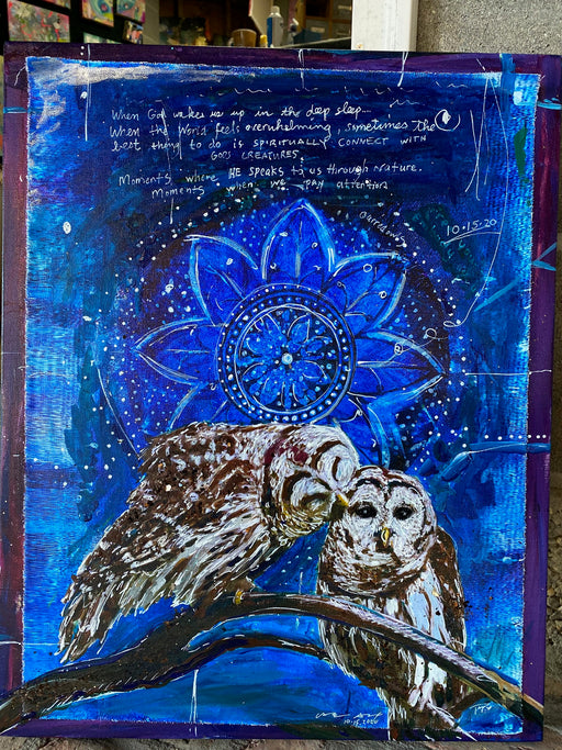 Barred Owl Spirit Animal, SIGNED LIMITED EDITION OF 40 ONLY
