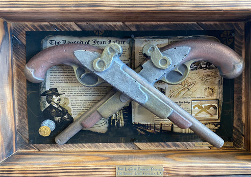 Jean Lafitte Pistol: Copper, Bronze & Aluminum Metallic Finish