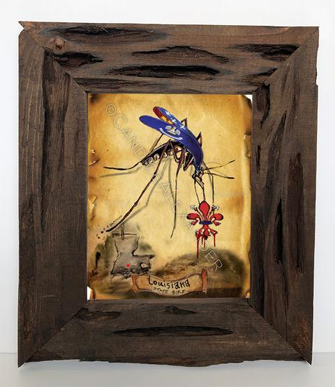 Candice Alexander I Bleed Louisiana Mosquito Louisiana Cypress Frame