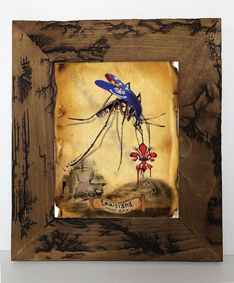 Candice Alexander I Bleed Louisiana Mosquito Electrocuted Frame