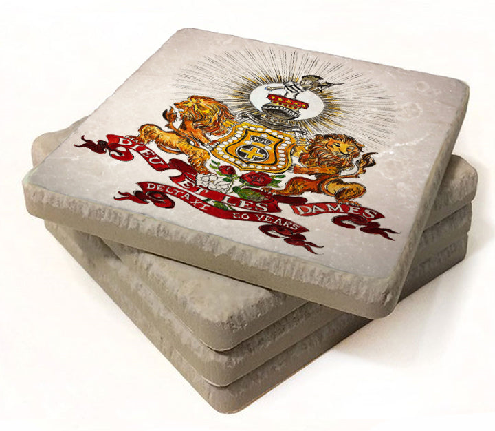Kappa Alpha art by Candice Alexander, louisiana fleur de lis artist coaster