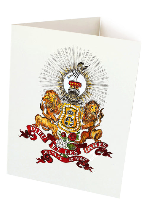 notecards Kappa Alpha art by Candice Alexander, louisiana fleur de lis artist